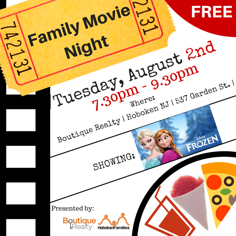Family Movie Night Hoboken Frozen